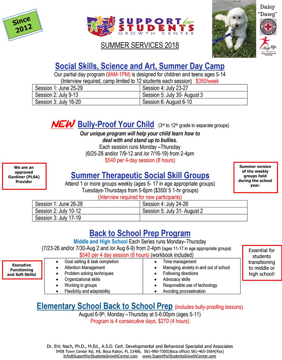Summer Services 2018